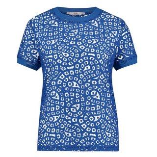 Blauwe top Fleuron Solid