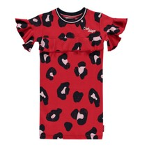 Rode leopard jurk Sabrina