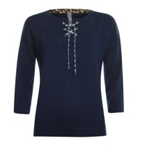 Blauwe rope sweater 913177