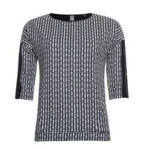 Zwarte check sweater 913176