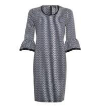 Zwarte check jurk 913170