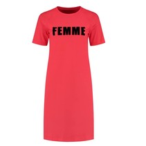 Rode Tee jurk Suzy