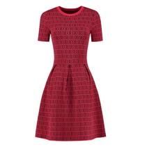 Rood geprinte jurk Perfect Logo
