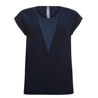 Donkerblauw v-neck t-shirt 913219