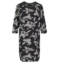 Zwart geprinte jurk Inia