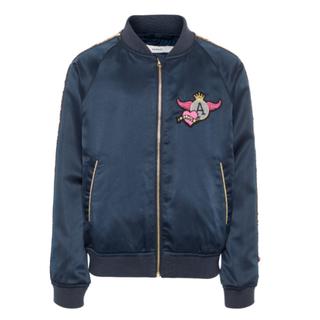 Donkerblauwe bomber jacket My
