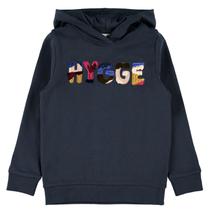 Donkerblauwe hoodie Tabia