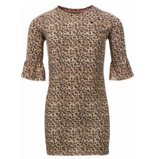 Allover leopard jurk 7810