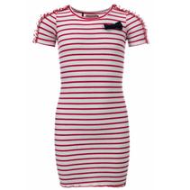 Rood gestreepte jurk 7850