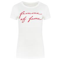 Wit t-shirt Fame