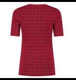 NIKKIE Zwart met rode top Perfect Logo