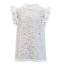 Witte top Floria Lace