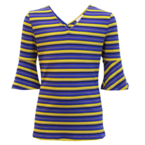 Blauwe top Anny Stripe