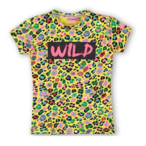 Geel geprint t-shirt Cristine