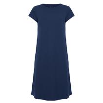 Blauwe jurk Pique T1064