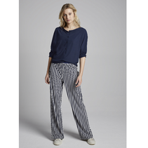 Blauwe top Boatneck T1040