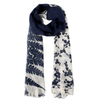 Diepblauwe sjaal Angela