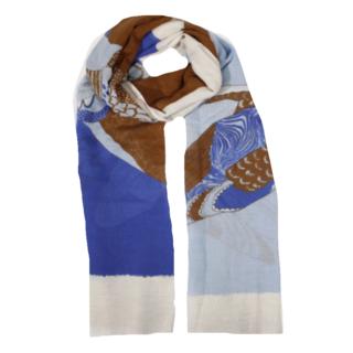 Diepblauwe sjaal Ashley
