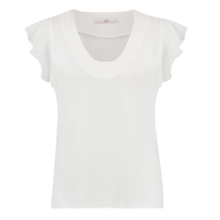 Witte top Deno Bubble