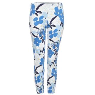 Blauw gebloemde broek Alisa