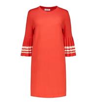 Rode jurk Plisse Stripe