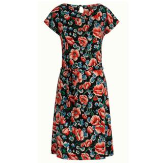 Zwarte jurk Shirley Flora