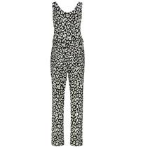 Wit met zwarte Racing jumpsuit Big Leopard