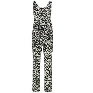 Wit met zwarte Racing jumpsuit Big Leopard