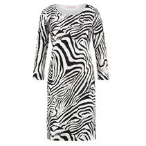Wit met zwarte Zebra jurk Roos