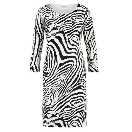 Studio Anneloes Wit met zwarte Zebra jurk Roos