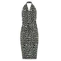 Wit met zwarte jurk Summer Big Leopard