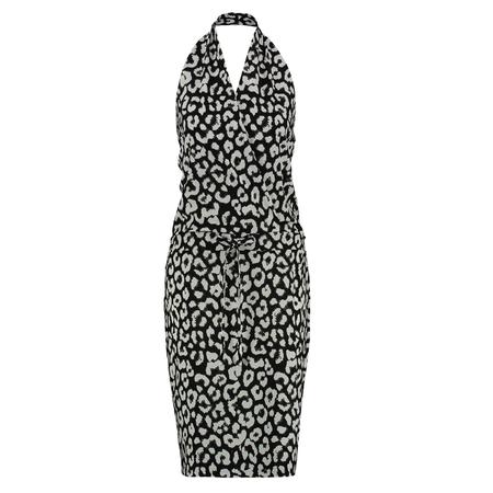 Studio Anneloes Wit met zwarte jurk Summer Big Leopard