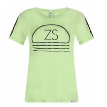 Groen geprint t-shirt Serena
