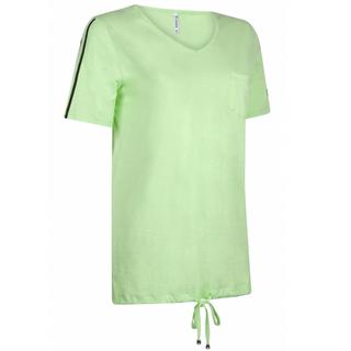 Groen met wit t-shirt met print Sanna
