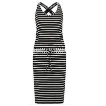 Zwart met witte jurk Cloud Stripe Sport