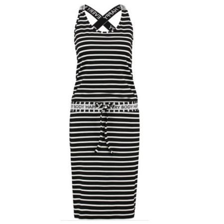 Studio Anneloes Zwart met witte jurk Cloud Stripe Sport