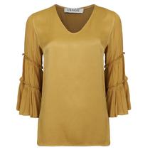 Bruine top V-neck Flair 9014101
