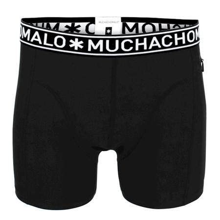 Muchachomalo Zwarte strakke swimshort Men