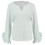 Studio Anneloes Wit met groen gestipt shirt Sita Dot