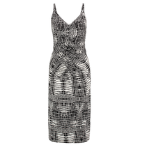 Wit met zwarte jurk Mermaid Grafic Snake