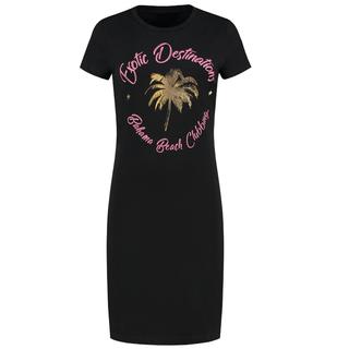 Zwarte jurk Exotic Destination
