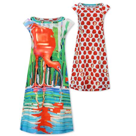 Lizzy & Coco Geprinte reversibel jurk Ces
