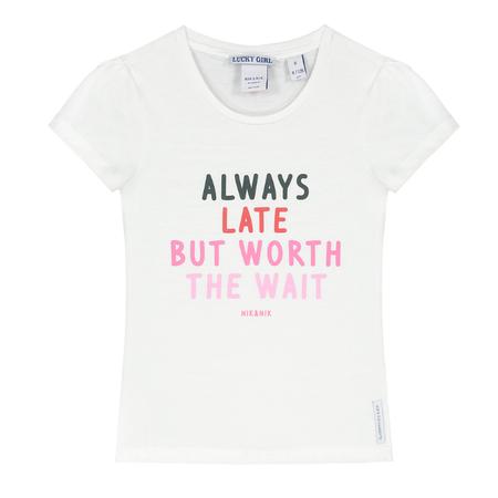 NIK & NIK Wit t-shirt Always Late