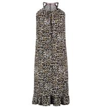 Luipaard geprinte jurk Carla Ruffle
