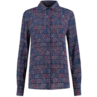 Donkerblauwe blouse Logomania