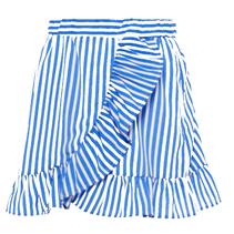 Blauw gestreepte rok Kaya