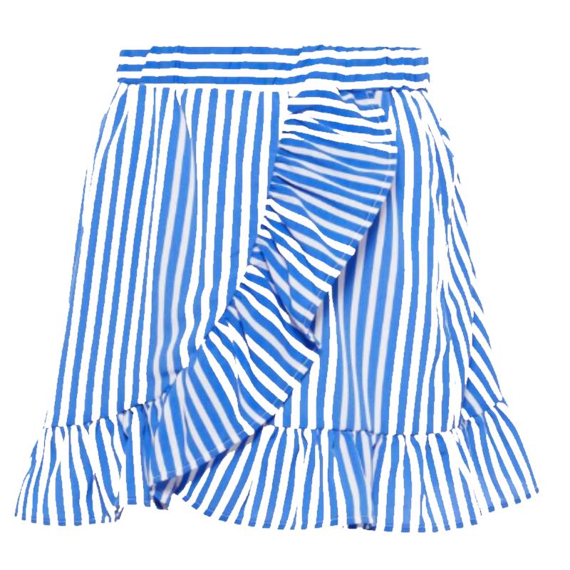 Super LMTD Blauw gestreepte rok Kaya | Capuchon Fashion ZS-55