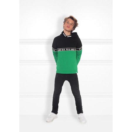 NIK & NIK Groene hoodie Marvus