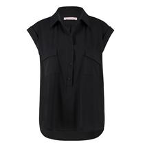 Zwarte blouse Poreen