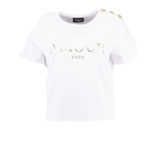 Wit t-shirt Amour